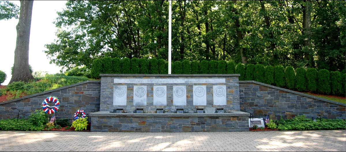 main Colonie Veterans Memorial at The Crossings in Colonie NY